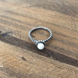 Silpada Jewelry Sterling Silver and Pearl Ring